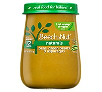 Beech-Nut Naturals Baby Food Stage 2 Peas Green Beans And Asparagus - 4 Oz