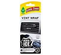 Little Trees Air Fresheners Vent Wrap Black Ice - 4 Count