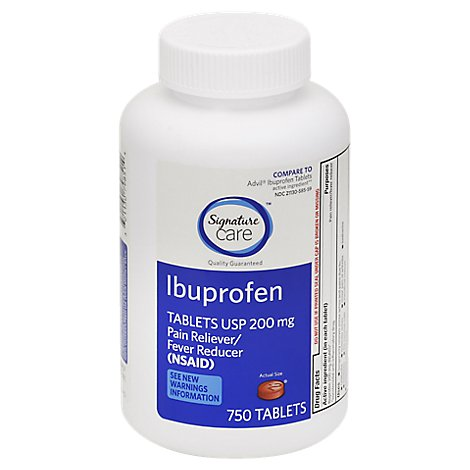 Signature Care Ibuprofen Tablets 200 mg - 750 Count