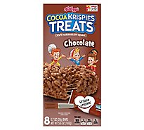 Cocoa Krispies Treats Crispy Marshmallow Squares Chocolate Single Serve 8 Count - 5.6 Oz