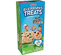 Kelloggs Rice Krispies Treats Crispy Marshmallow Squares Original with M&MS Minis 8 Count - 5.6 Oz