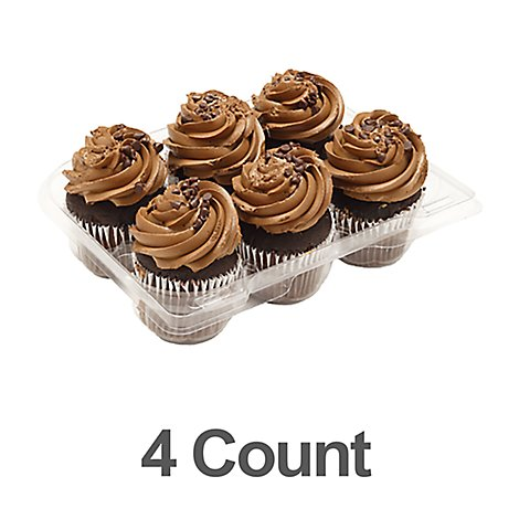 Bakery Cupcake Chocolate With Buttercream 4 Count - Each