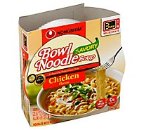 Nongshim Noodle Bowl Soup Savory Chicken - 3.03 Oz