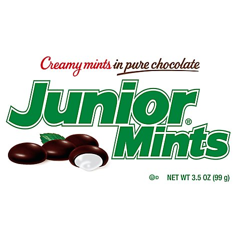 Junior Mints Creamy Mints In Pure Chocolate Box - 4 Oz