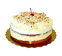 Bakery Cake 8 Inch 1 Layer Coconut With White Icing - Each