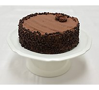 Bakery Cake 8 Inch 2 Layer Celebration Chocolate With Fudge Iced - Each