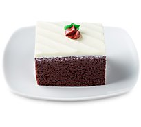 Bakery Cake Slice Red Velvet With Cream Cheese Icing - Each (460 Cal)