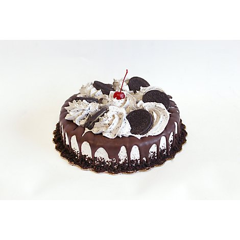 Bakery Cake 8 Inch 1 Layer Cookies N Creme - Each