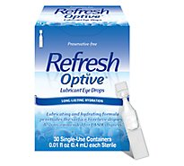 Refresh Optive Lubricant Eye Drops Long-Lasting Hydration Single-Use - 30-0.01 Fl. Oz.