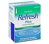 Refresh Plus Lubricant Eye Drops Moisturizing Relief Single-Use - 30-0.01 Fl. Oz.