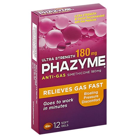 Phazyme Anti Gas Ultra Strong - 12 Count