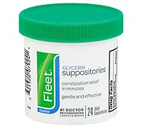 Fleet Glycerin Suppositories Adult - 24 Count