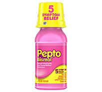 Pepto-Bismol Upset Stomach Reliever 5 Symptom Digestive Relief Liquid Original - 4 Fl. Oz.