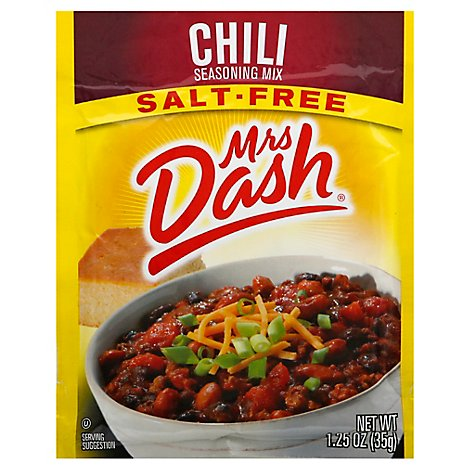 Mrs Dash Seasoning Mix Salt Free Chili - 1.25 Oz