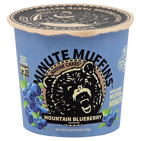 Kodiak Cakes Minute Muffins Muffin Mix Mountain Blueberry - 2.29 Oz