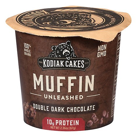 Kodiak Cakes Minute Muffins Muffin Mix Double Dark Chocolate - 2.36 Oz