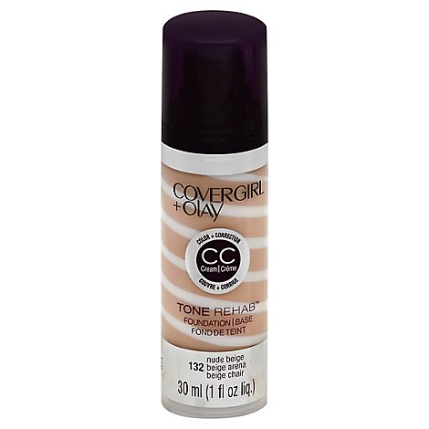 COVERGIRL + Olay Tone Rehab Foundation Color + Correction Nude Beige 132 - 1 Fl. Oz.