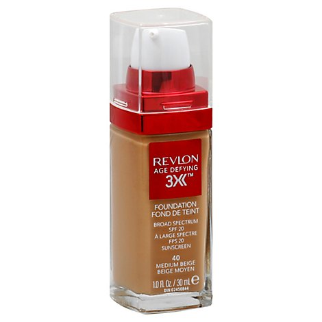 Revlon Age Defy Firm Make Up Med Beige - 1 Oz