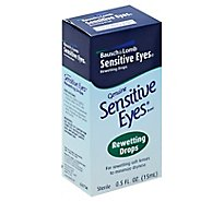 Bausch & Lomb Sensitive Eyes Rewetting Drops - 0.5 Fl. Oz.