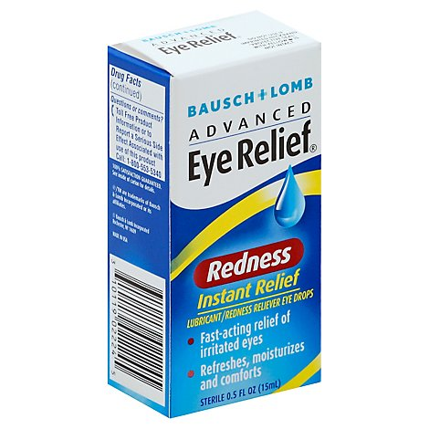 Bausch & Lomb Eye Drops Redness Instant Relief - 0.5 Fl. Oz.