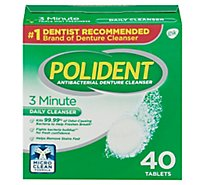 Polident Denture Cleanser Tablets 3 Minute Triplemint Freshness - 40 Count