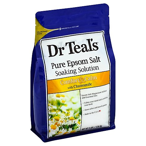 Dr Teals Soaking Solution Epsom Salt Pure Comfort & Calm with Chamomile - 3 Lb