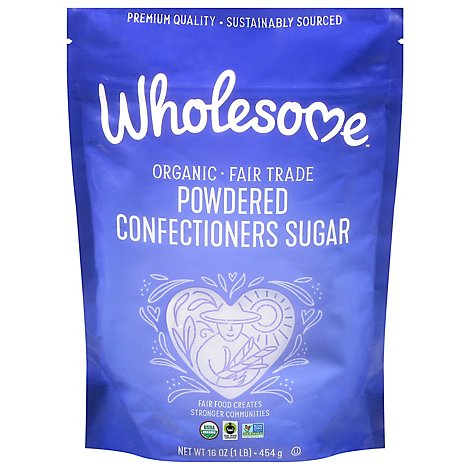 Wholesome Sugar Powedered Organic Bag - 16 Oz