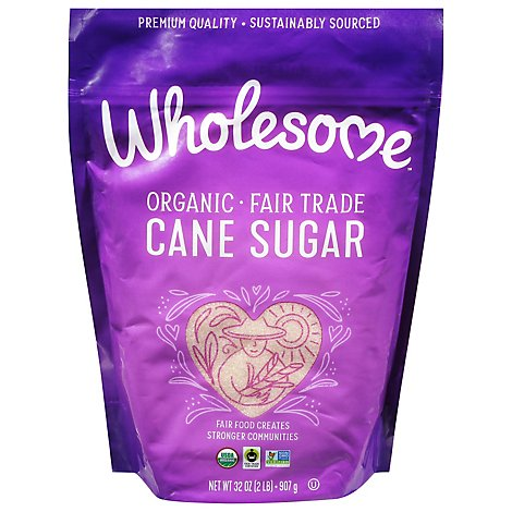 Wholesome Organic Cane Sugar Bag - 32 Oz