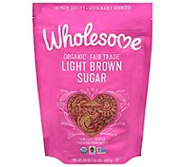 Wholesome Organic Sugar Light Brown - 24 Oz