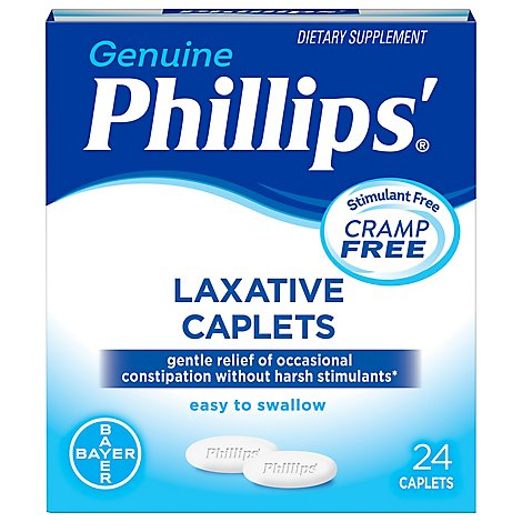 Phillips Caplets Laxative Cramp Free - 24 Count