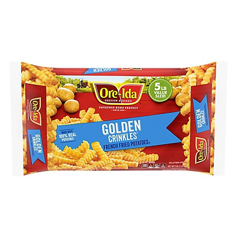 Ore-Ida Potatoes French Fried Golden Crinkles - 80 Oz