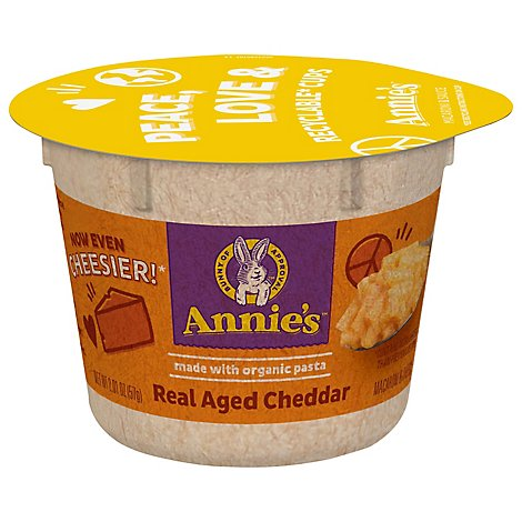 Annies Homegrown Macaroni & Cheese Real Aged Cheddar Cup - 2.01 Oz