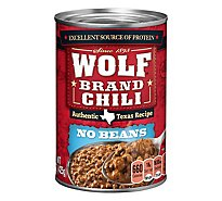 Wolf Brand Chili No Beans Original - 15 Oz