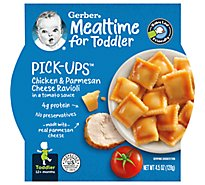 Gerber Pick-Ups Baby Food Toddler Chicken & Parmesan Cheese Ravioli In Tomato Sauce - 6 Oz