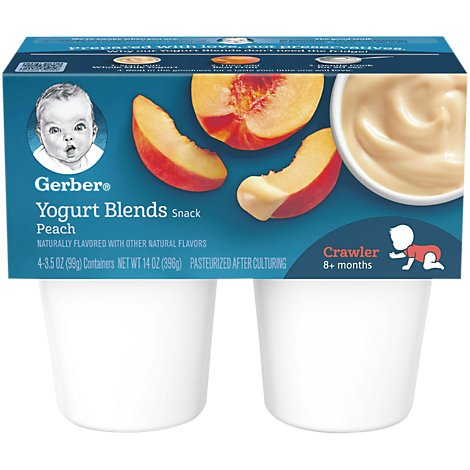 Gerber Yogurt Blends Simply Peach - 4-3.5 Oz