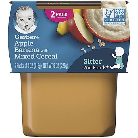 Gerber 2nd Foods Mix Cereal Apple Banana - 2-3.5 Oz