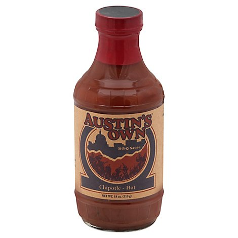 Austins Own Sauce BBQ Chipotle Hot - 18 Oz