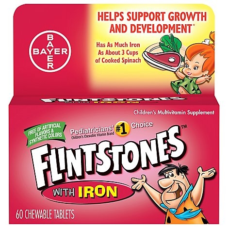 Flinstns Vitamins Iron Chewable Tablets - 60 Count