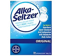 Alka-Seltzer Antacid Analgesic Effervescent Tablets Original - 72 Count