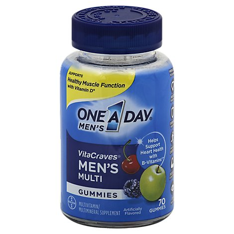 One A Day Vitacraves Vitamins Gmy Mens - 70 Count