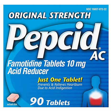 Pepcid Ac Acid Reducer Tablets Original Strength 10 mg - 90 Count
