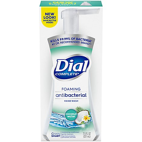 Dial Complete Hand Soap Foaming Antibacterial Coconut Water - 7.5 Fl. Oz.