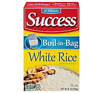 Success Boil-in-Bag Rice White Enriched Precooked 6 Count - 21 Oz