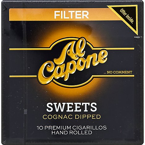 Al Capone Cigarillos Premium Filter Sweets - 10 Count