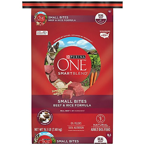 One Dog Food Dry Smartblend Beef & Rice - 16.5 Lb