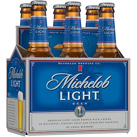 Michelob Light Beer Bottles - 6-12 Fl. Oz.