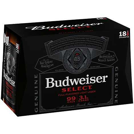 Budweiser Select Beer Btl - 18-12Fl. Oz.