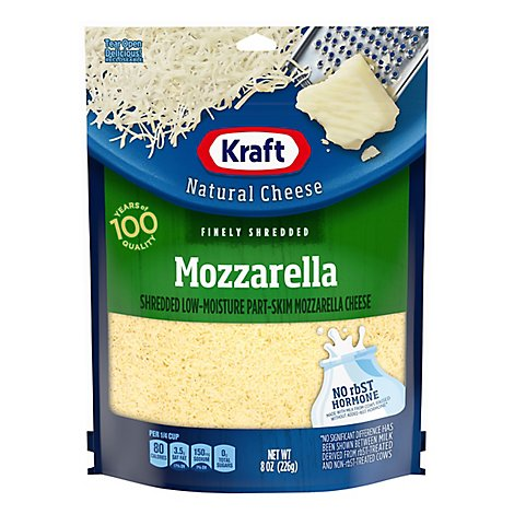 Kraft Natural Cheese Finely Shredded Mozzarella - 8 Oz