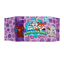 Royal Family Baby Wipes Scented - 80 Count