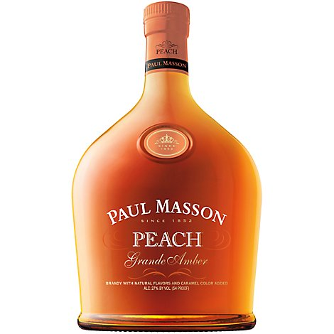 Paul Masson Grande Amber Brandy Peach Bottle 54 Proof - 750 Ml